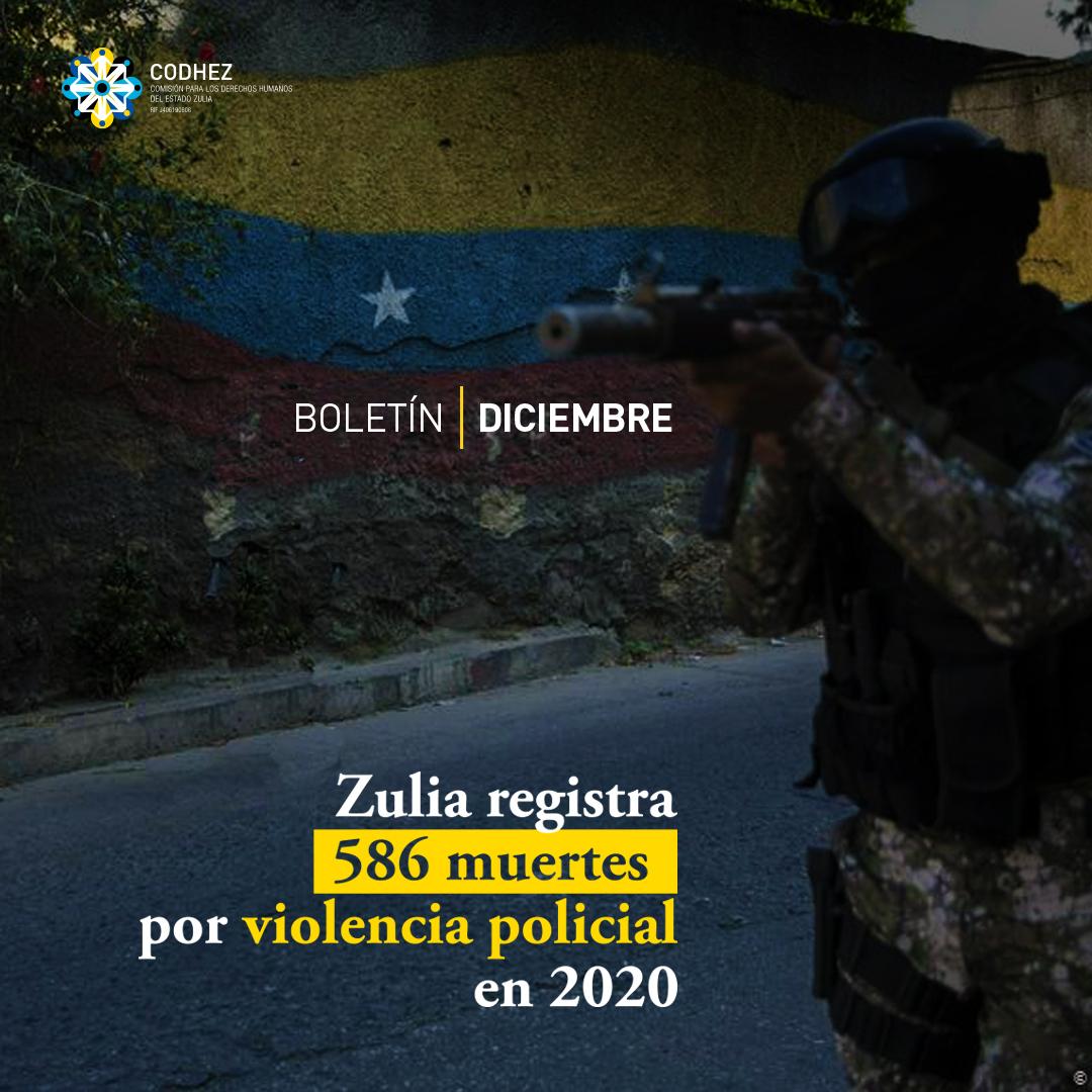 Zulia registra 586 muertes por violencia policial en 2020
