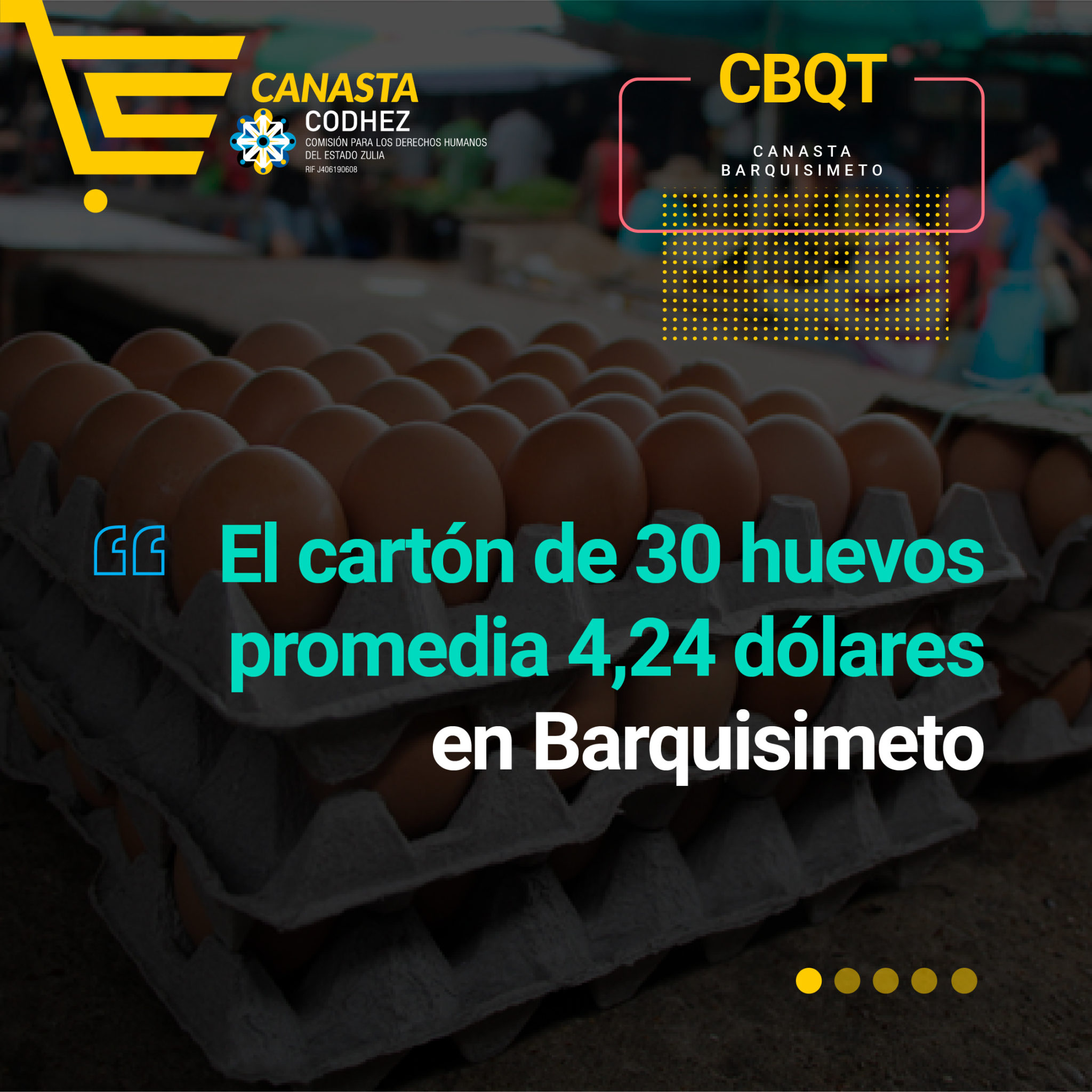 El precio del huevo aumentó +107% en dos meses en Barquisimeto