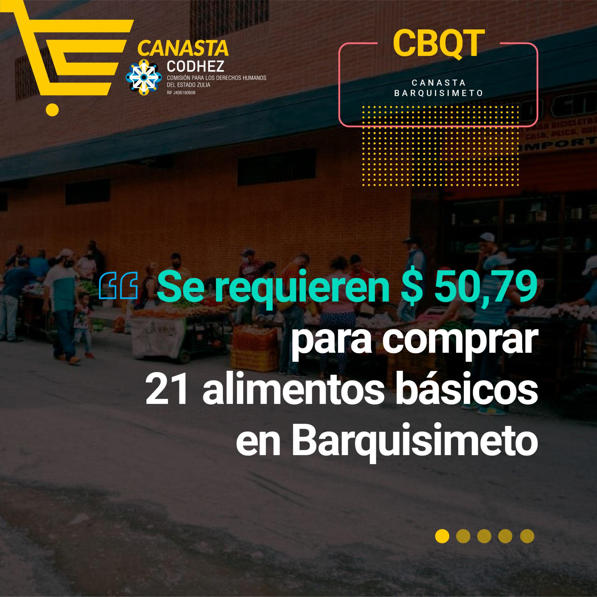 Barquisimetanos requieren 260 sueldos mínimos para adquirir 21 alimentos básicos