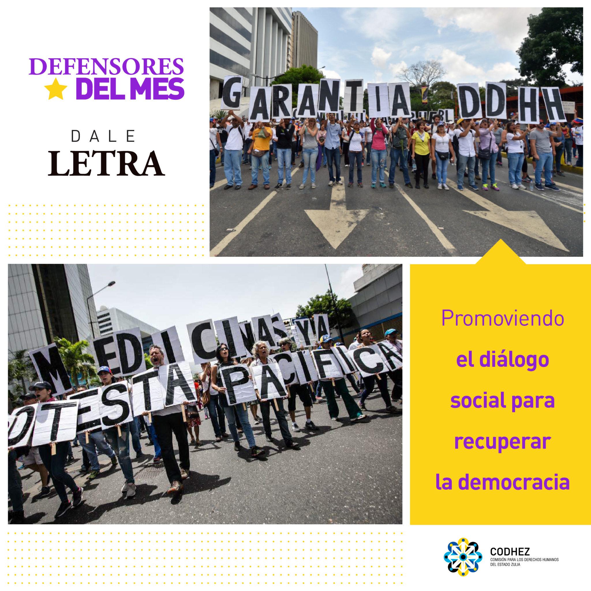 Dale Letra apuesta por el diálogo social para la recuperación de la democracia en Venezuela
