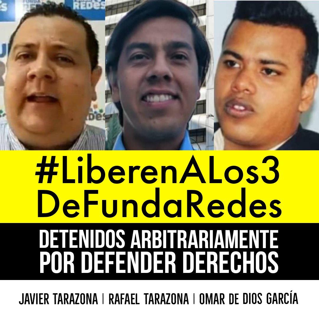 Más de 230 organizaciones de la sociedad civil exigen la liberación de tres defensores de derechos humanos de Fundaredes