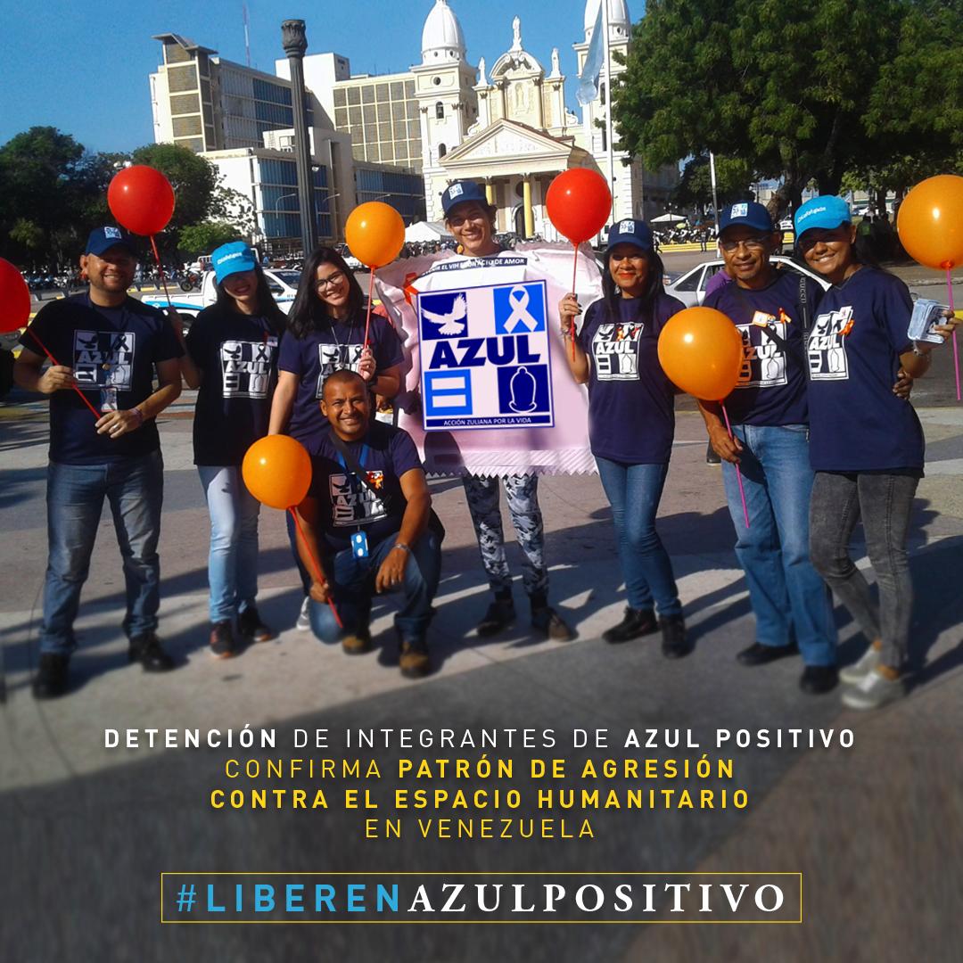 Más de 100 organizaciones de la sociedad civil venezolana rechazan la criminalización y hostigamiento contra la ONG Azul Positivo